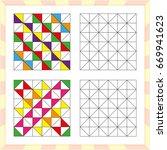 worksheet for preschool kids.... | Shutterstock .eps vector #669941623