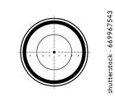 target icon  sight sniper... | Shutterstock .eps vector #669967543