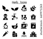 herb icons | Shutterstock .eps vector #669971263