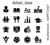 school   education icons | Shutterstock .eps vector #669971467