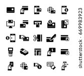 simple icon set of pay items in ... | Shutterstock . vector #669983923