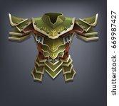 iron fantasy chest armor for... | Shutterstock .eps vector #669987427