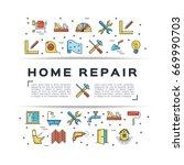 home repair flyer construction... | Shutterstock .eps vector #669990703