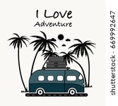 i love adventure typography... | Shutterstock .eps vector #669992647