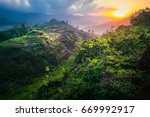 beautiful landscape nature with ... | Shutterstock . vector #669992917