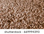 ginger colored stones of the... | Shutterstock . vector #669994393