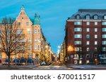 helsinki  finland. residential... | Shutterstock . vector #670011517