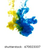 colors dropped into liquid and... | Shutterstock . vector #670023337