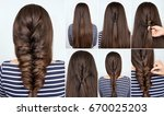 tutorial photo step by step of... | Shutterstock . vector #670025203