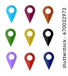 map pin icon   location sign....   Shutterstock .eps vector #670032973