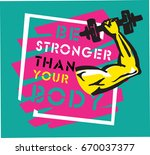 workout gym fitness... | Shutterstock .eps vector #670037377