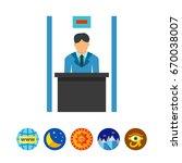 bank clerk vector icon   Shutterstock .eps vector #670038007