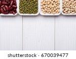 assortment of beans  red kidney ... | Shutterstock . vector #670039477