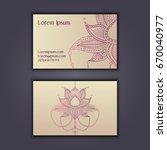 vector vintage visiting card... | Shutterstock .eps vector #670040977