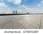 panoramic skyline and buildings ... | Shutterstock . vector #670051087