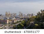view from cable car from above... | Shutterstock . vector #670051177