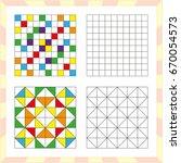 worksheet for preschool kids.... | Shutterstock .eps vector #670054573