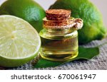 lime essential oil in a glass... | Shutterstock . vector #670061947