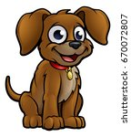 cute cartoon dog character... | Shutterstock . vector #670072807