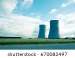 nuclear power plant in belarus... | Shutterstock . vector #670082497