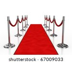 red carpet 3d illustration... | Shutterstock . vector #67009033