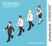 boss dominates his employee... | Shutterstock .eps vector #670091947