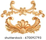 gold ornament on a white...   Shutterstock . vector #670092793