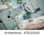 child in the intensive care... | Shutterstock . vector #670122433