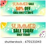 summer sale banners | Shutterstock . vector #670131043