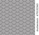 ancient japanese pattern  water ... | Shutterstock .eps vector #670132363