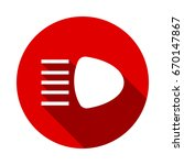 headlight icon isolated on red... | Shutterstock .eps vector #670147867