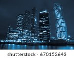 business center moscow city at... | Shutterstock . vector #670152643