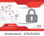 secure digital space. virtual... | Shutterstock .eps vector #670154323