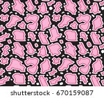 snake skin texture repeated... | Shutterstock .eps vector #670159087