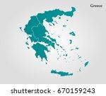 map of greece | Shutterstock .eps vector #670159243