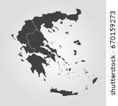 map of greece | Shutterstock .eps vector #670159273