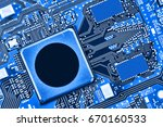 electronic circuit board close... | Shutterstock . vector #670160533