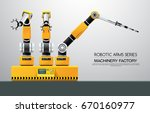 industrial machine robotic... | Shutterstock .eps vector #670160977