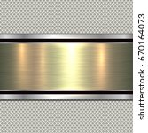 background  polished metal... | Shutterstock .eps vector #670164073