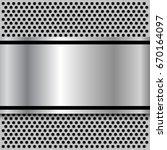 background  polished metal... | Shutterstock .eps vector #670164097