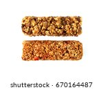 chocolate and strawberry cereal ... | Shutterstock . vector #670164487