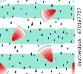 cute seamless pattern with... | Shutterstock .eps vector #670167757