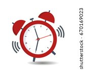 red alarm clock with a call on... | Shutterstock .eps vector #670169023