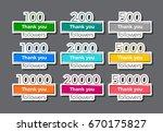 set of trendy geometric thank... | Shutterstock .eps vector #670175827