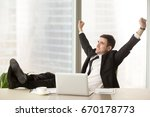 Satisfied Businessman Happy To...
