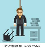 businessman is tired of failing ... | Shutterstock .eps vector #670179223