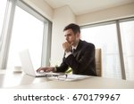 concentrated serious...   Shutterstock . vector #670179967