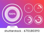 white circled icons on the red... | Shutterstock .eps vector #670180393