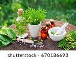 bottles of homeopathic globules