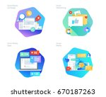 material design icons set for... | Shutterstock .eps vector #670187263